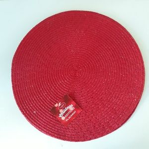Other - Red round placemats - 4 qty